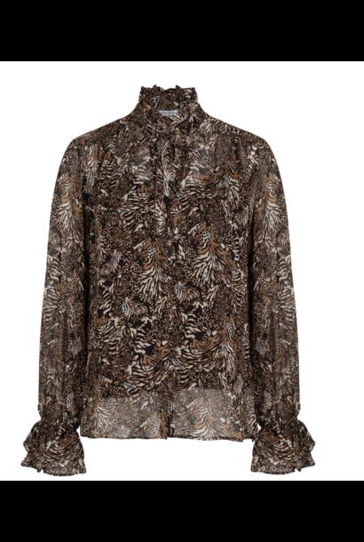Nova animal print blouse
