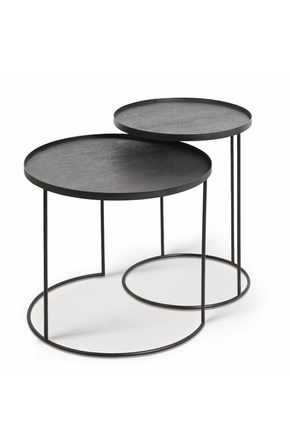 Round tray side table set