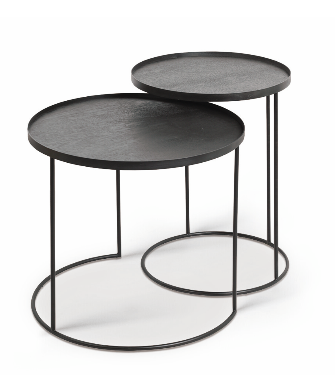 Round tray side table set-1