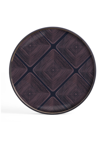 Ethnicraft Midnight Linear Squares glass tray