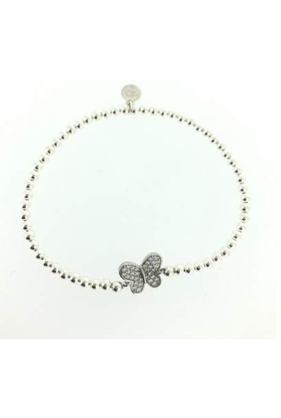 Bracelet zilver butterfly