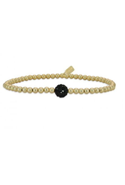 Bracelet gold dot black