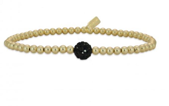 Bracelet gold dot black-1