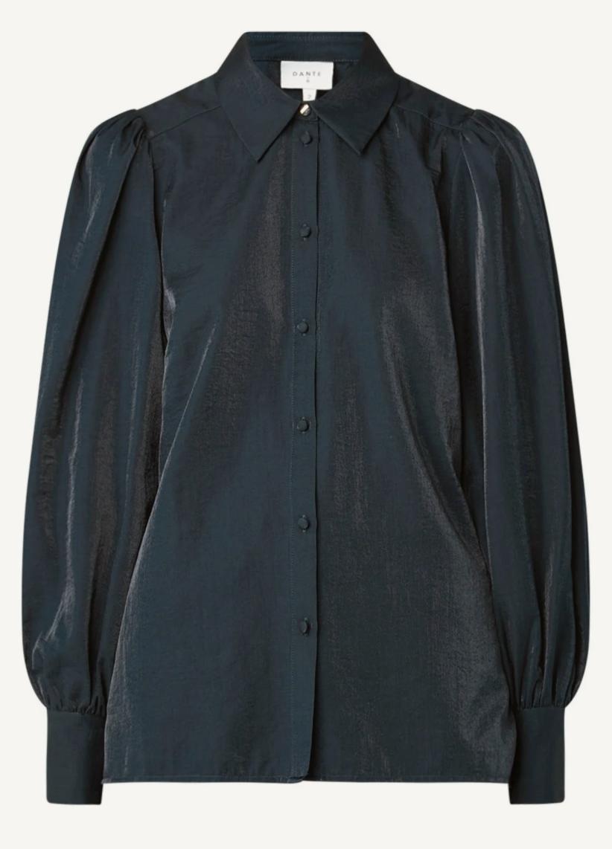 Mauri organza blouse black-1