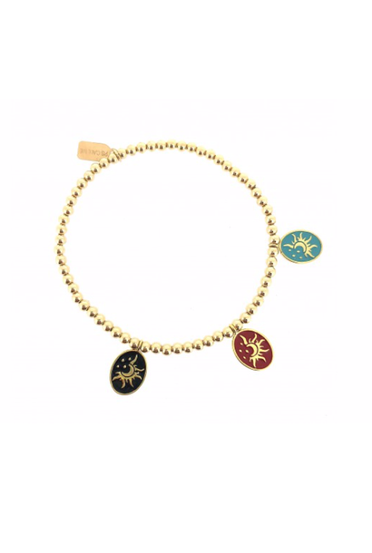 bracelet gold moon and sun charms