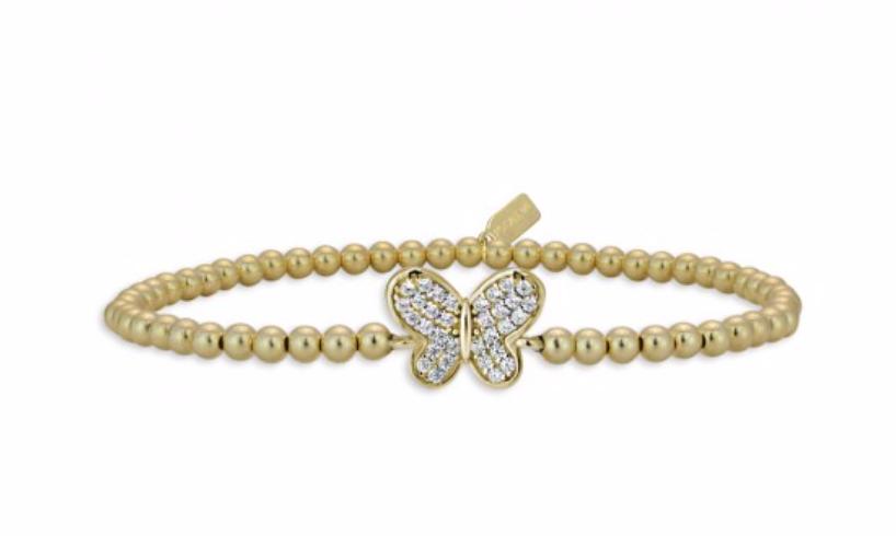 Bracelet gold butterfly-2