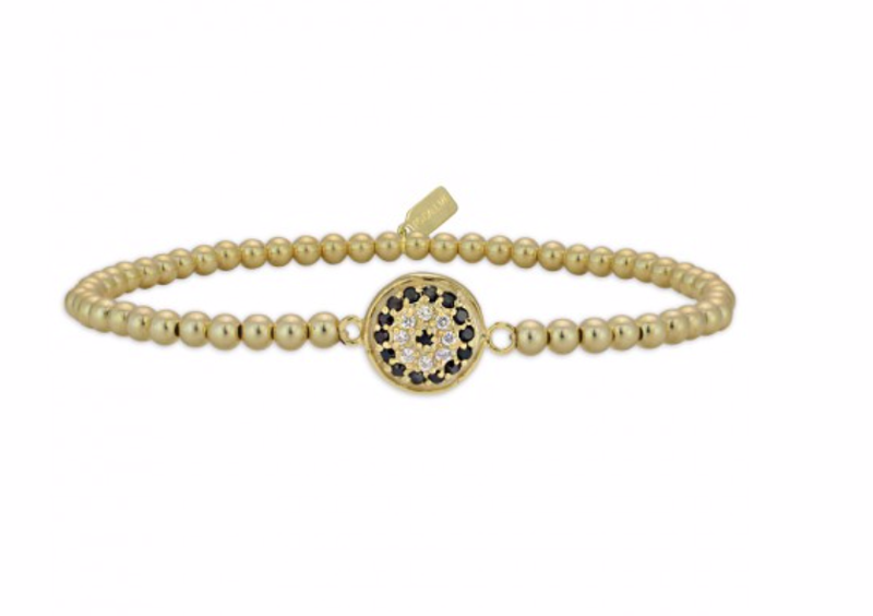 Ps Call Me Bracelet Disc flower black/gold