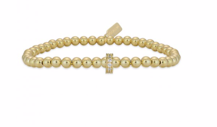 Bracelet gold rondel strass-2