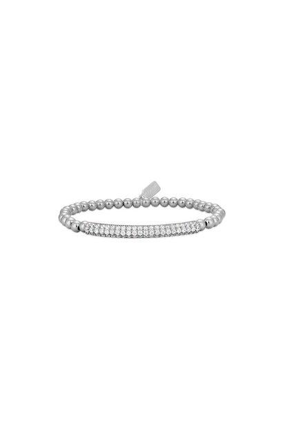 Bracelet zilver bar strass