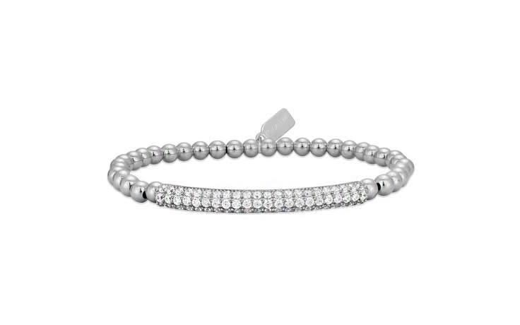Bracelet zilver bar strass-1