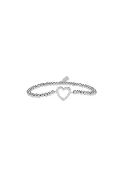 Bracelet zilver heart open