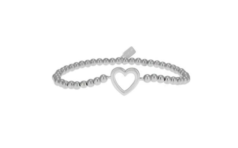 Ps Call Me Bracelet zilver heart open