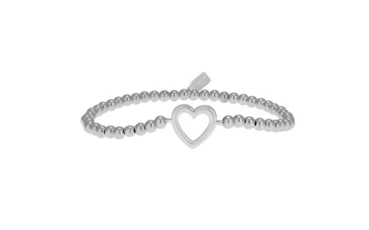 Bracelet zilver heart open-1