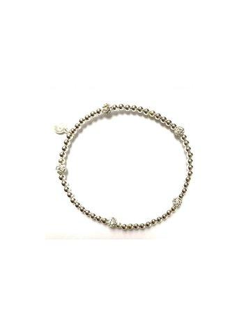 Ps Call Me Bracelet zilver dot strass