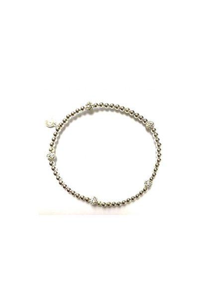 Bracelet zilver dot strass
