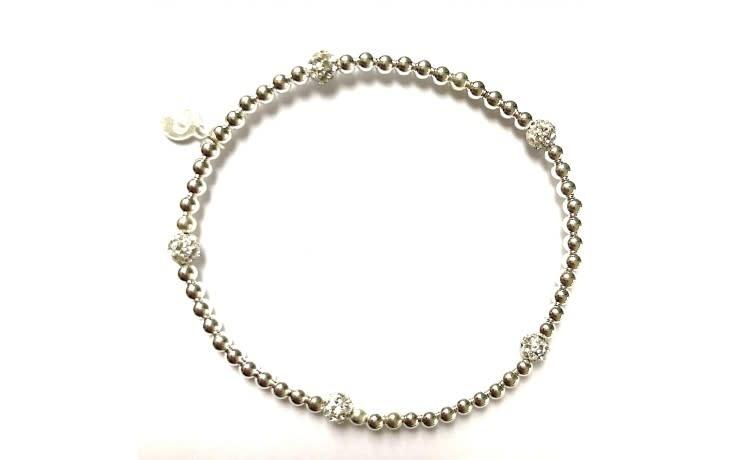 Bracelet zilver dot strass-1
