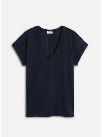 Closed Tee  with rolled-up sleeves dark blue