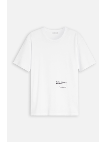 Closed Tee with Embroidery