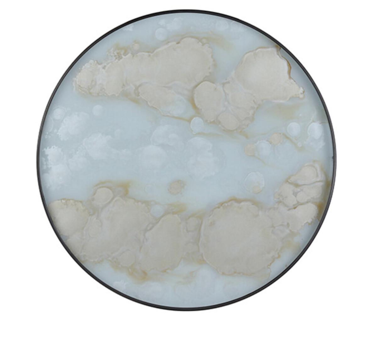 Mist gold organic glass tray-1