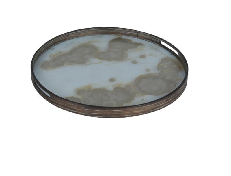 Ethnicraft Mist gold organic glass tray