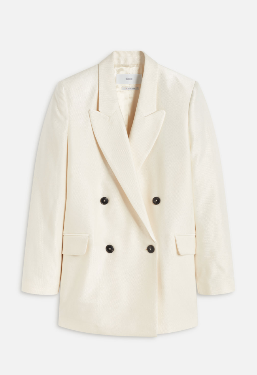Shiny blazer creme-1
