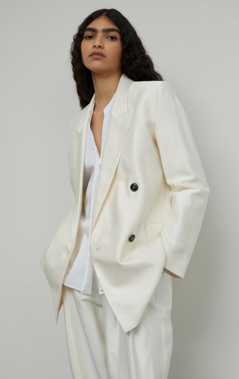 Shiny blazer creme-2