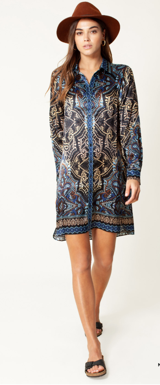 Silk blouse dress-1