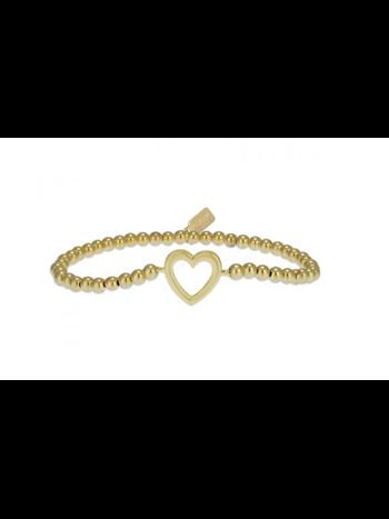 Ps Call Me Bracelet heart gold