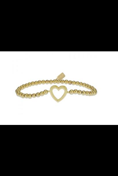 Bracelet heart gold