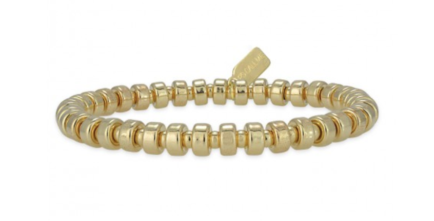 Bracelet basic wheel 5mm gold-1