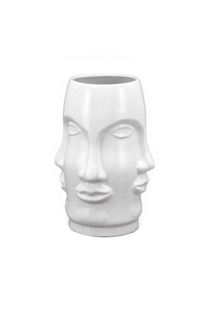 PRE ORDER Vase face white