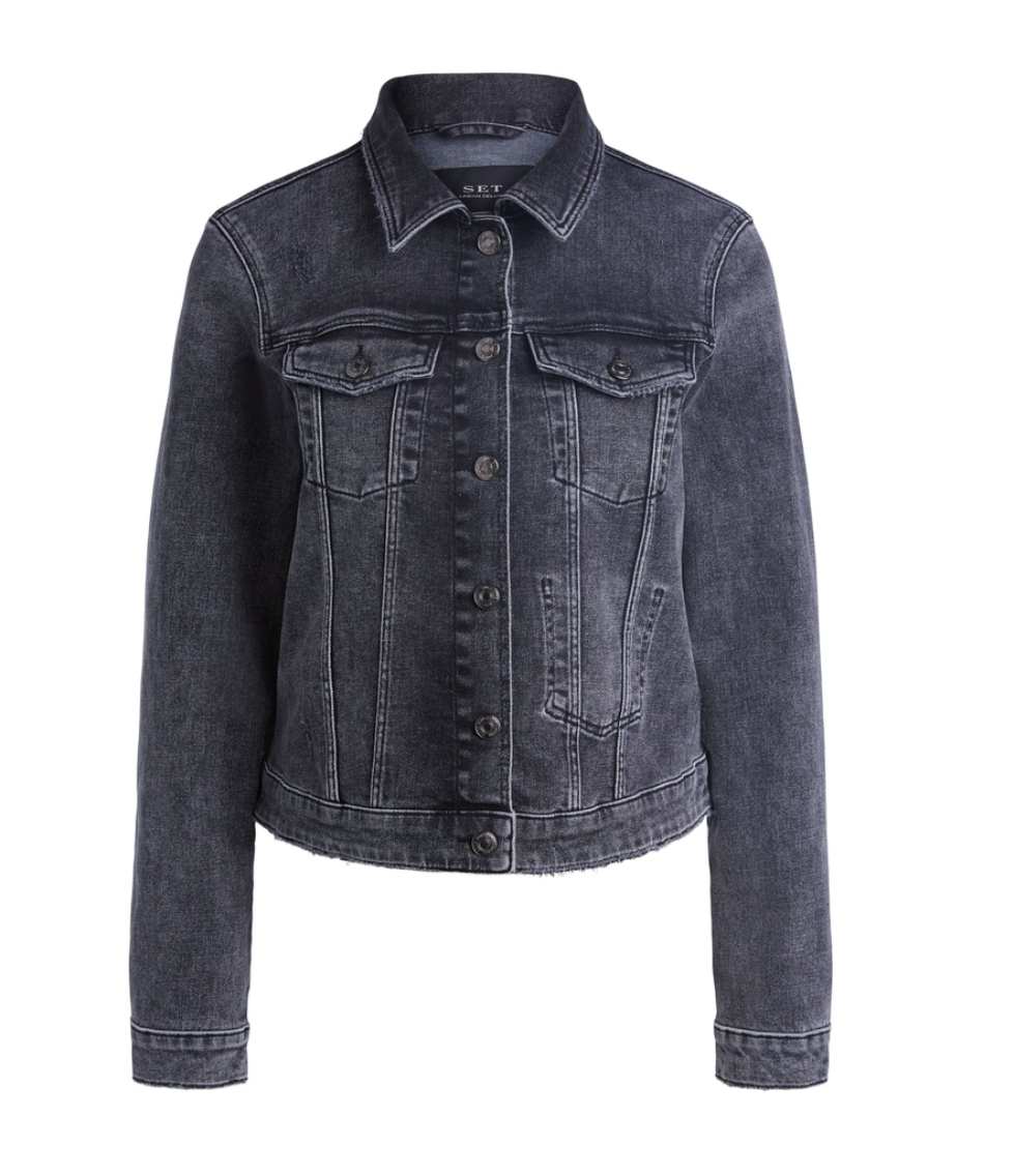 Jacket  jeans dark grey-1