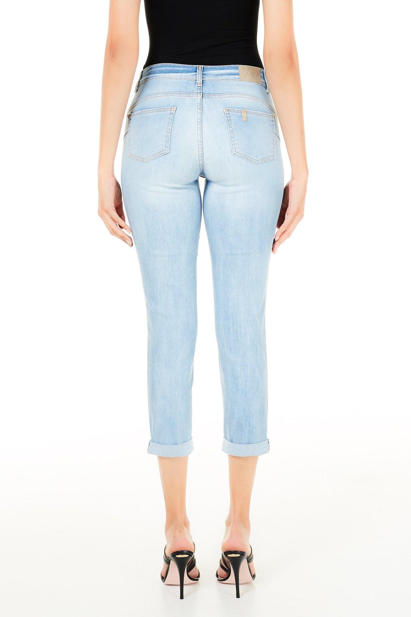 Jeans bottom up Monroe light blue-2
