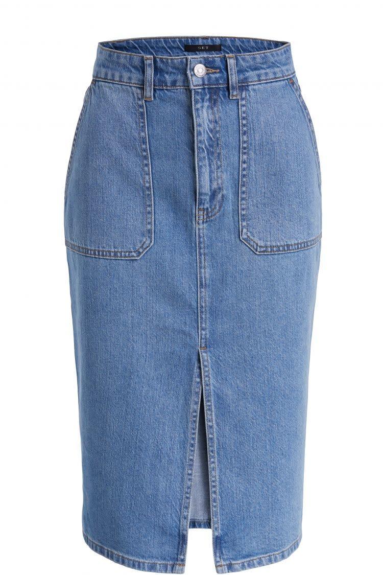 Skirt denim surf blue-1