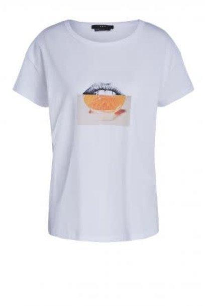 Tee orange lips