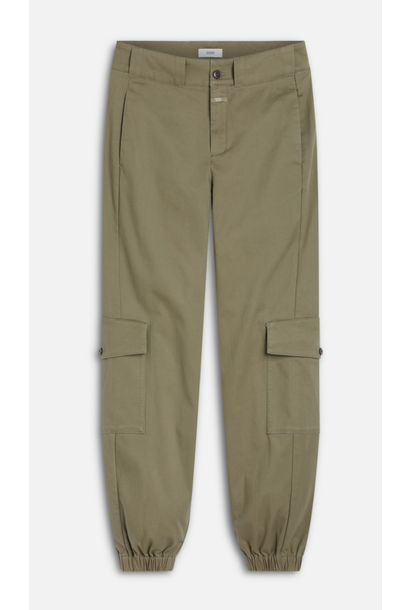 Erin organic cotton pants green umber