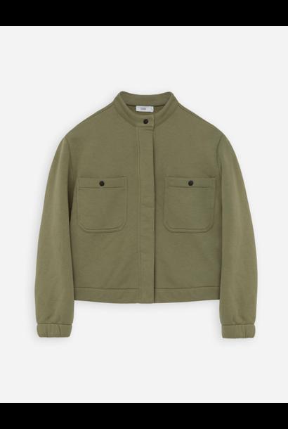 Organic cotton  jacket green umber
