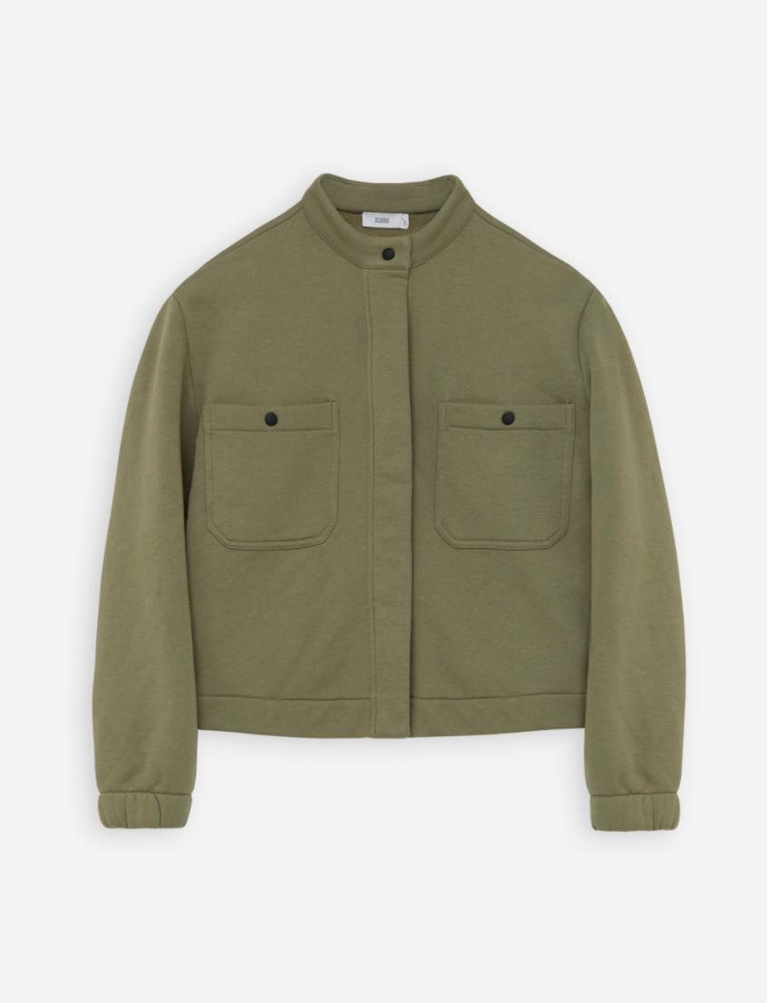 Organic cotton  jacket green umber-1