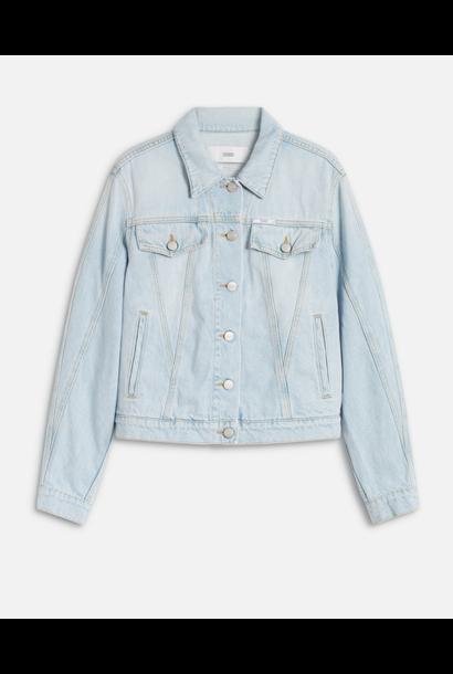 Organic denim jacket light blue