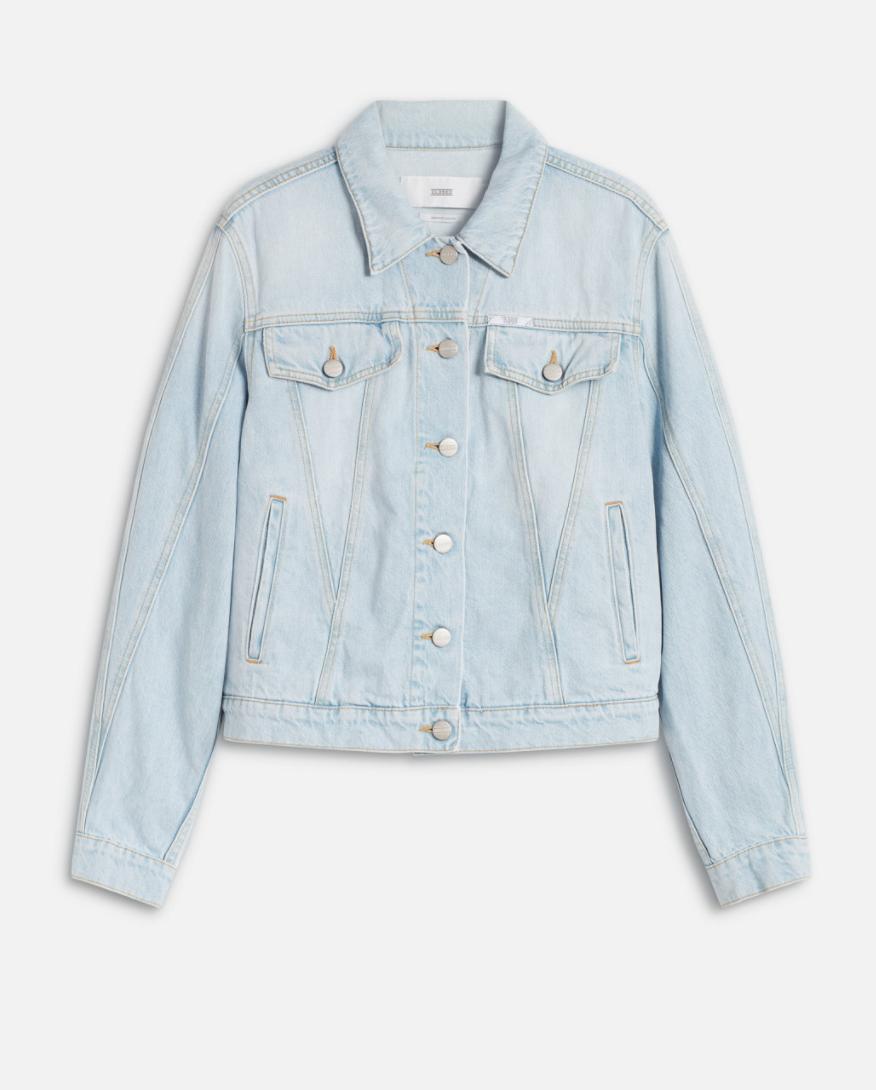 Organic denim jacket light blue-1