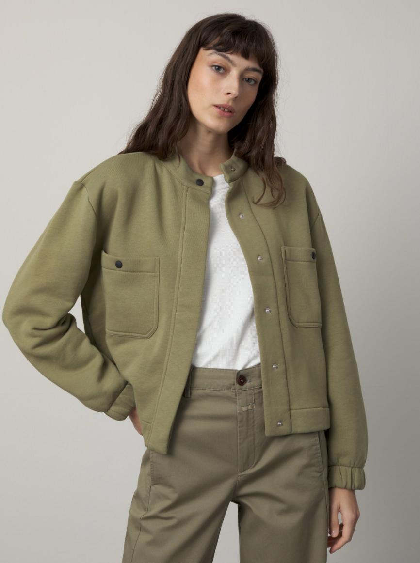 Organic cotton  jacket green umber-3