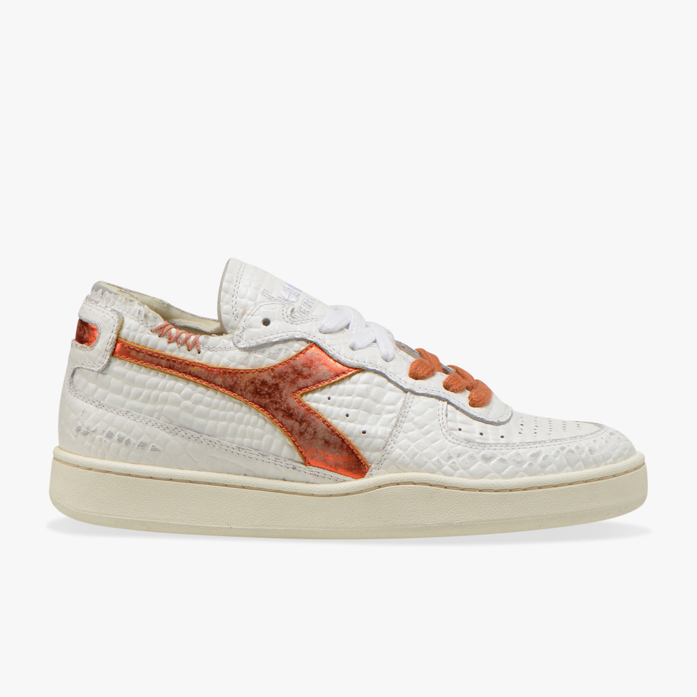 Sneaker basket row cut cocco white/caramel-1