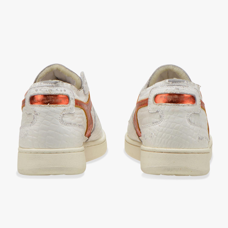 Sneaker basket row cut cocco white/caramel-3
