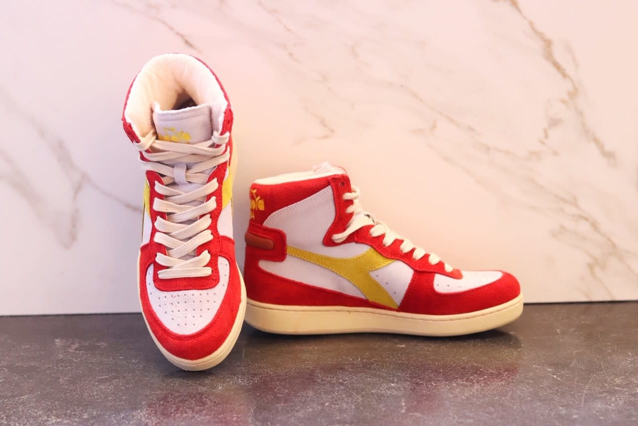 Sneakers baskets Atlanta white/red-3