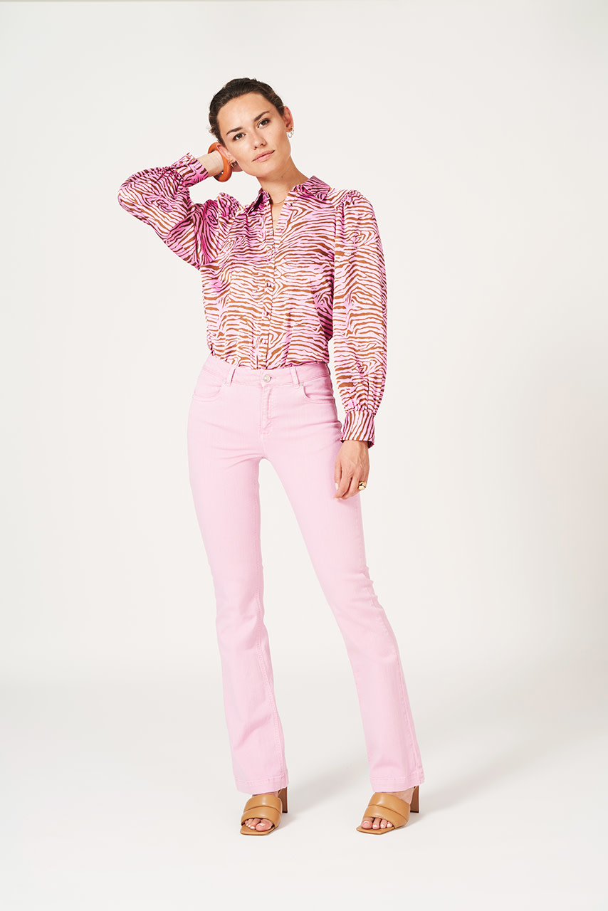 Lua tiger print blouse-3