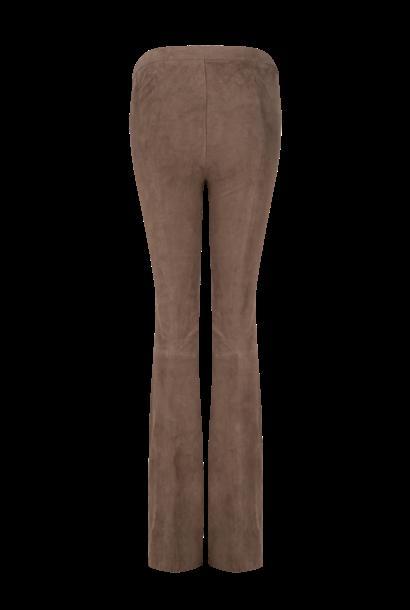 Dollmann flare suede pants