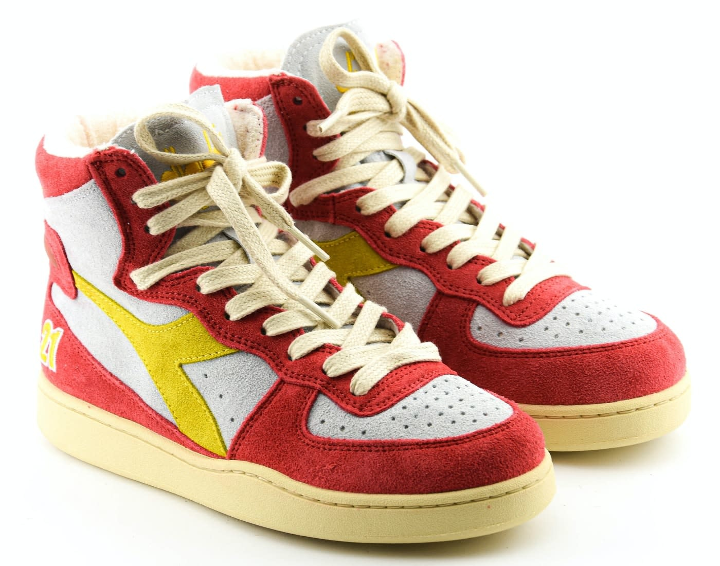 Sneakers baskets Atlanta white/red-2
