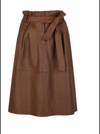 Dante 6 Aggy leather skirt caramel
