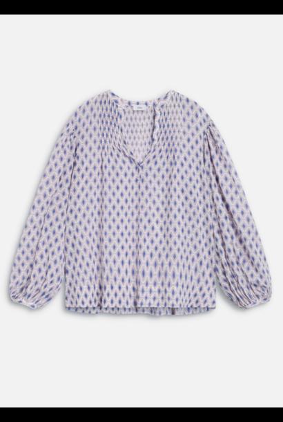 Voile blouse met print