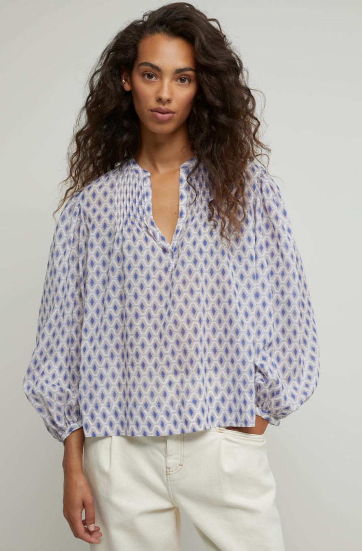 Voile blouse met print-2